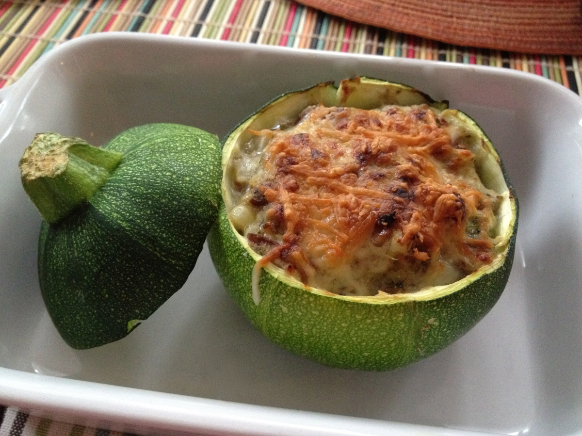 Stuffed Eight-Ball Zucchini
