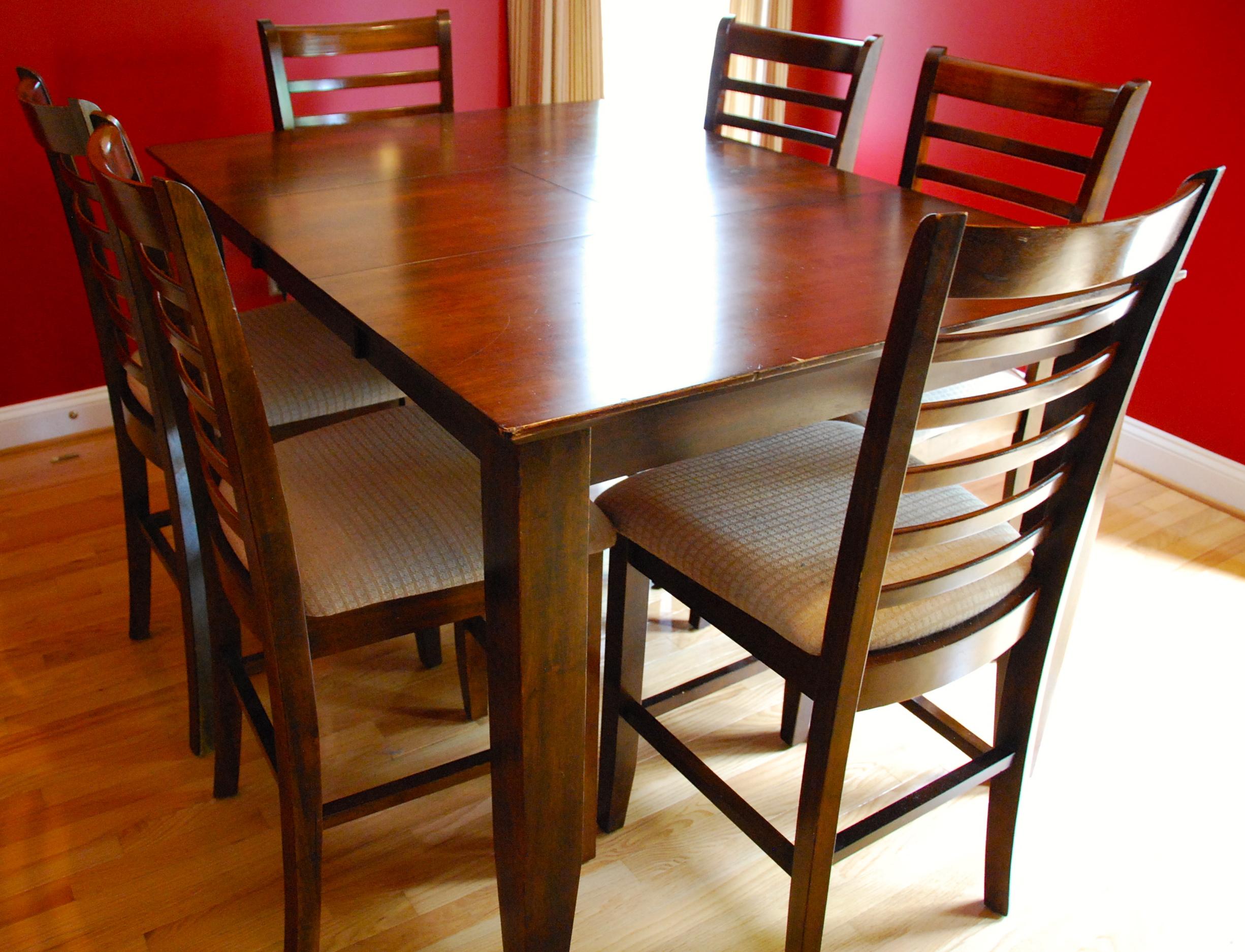 Tall Dining Room Sets