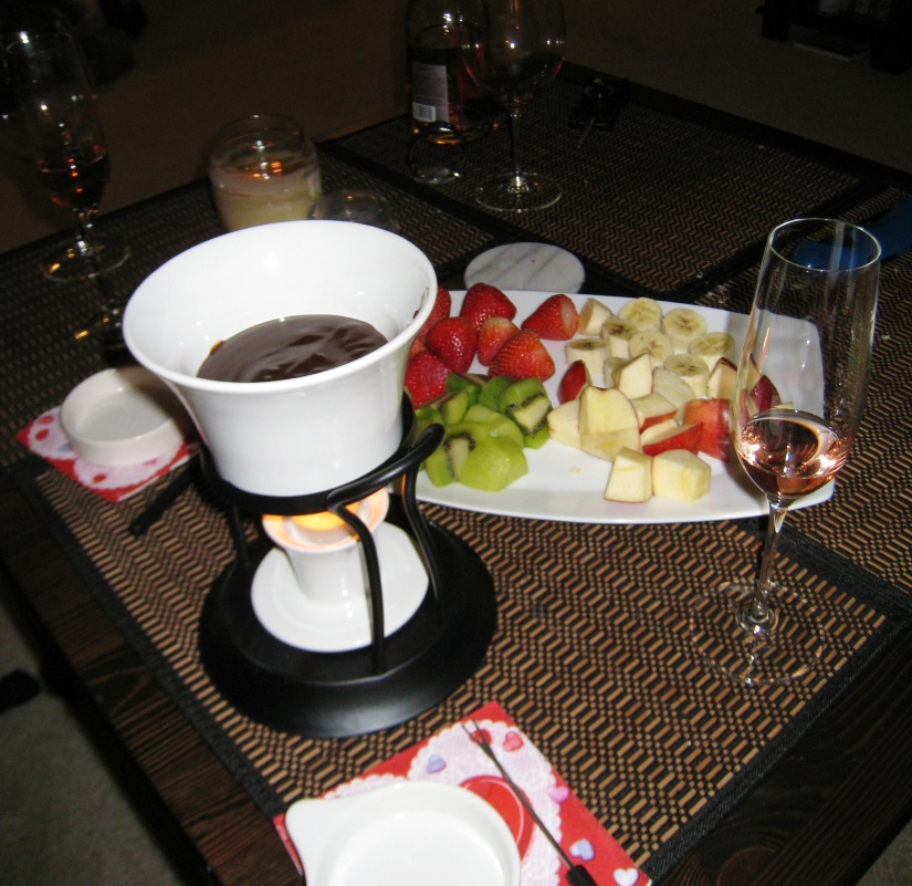 2010: Our first Valentine's Day as a married couple, celebrated with a trio of fondues...you can guess which one I preferred. :)
