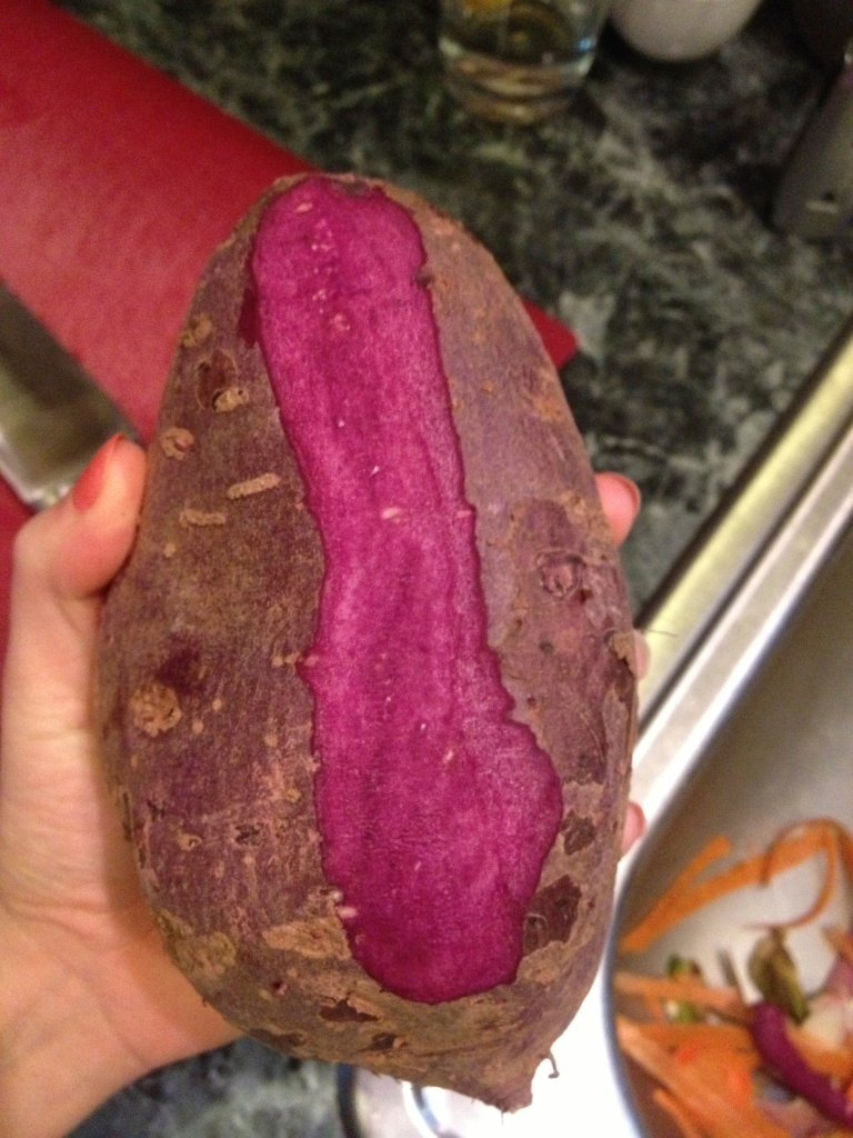 Purple potato...so girly!