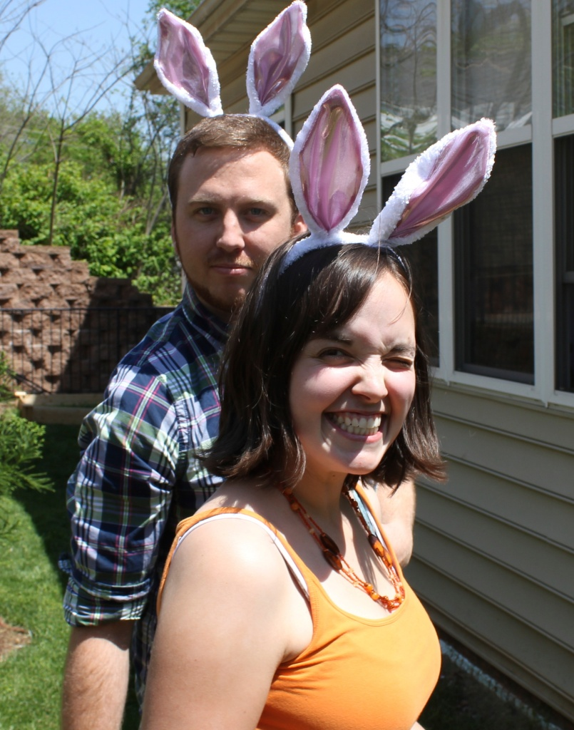 Easter bunnies, a few years ago...