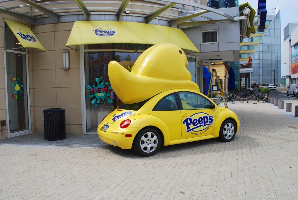 We saw a Peeps store at the National Harbor. I didn't even know there was such a thing!