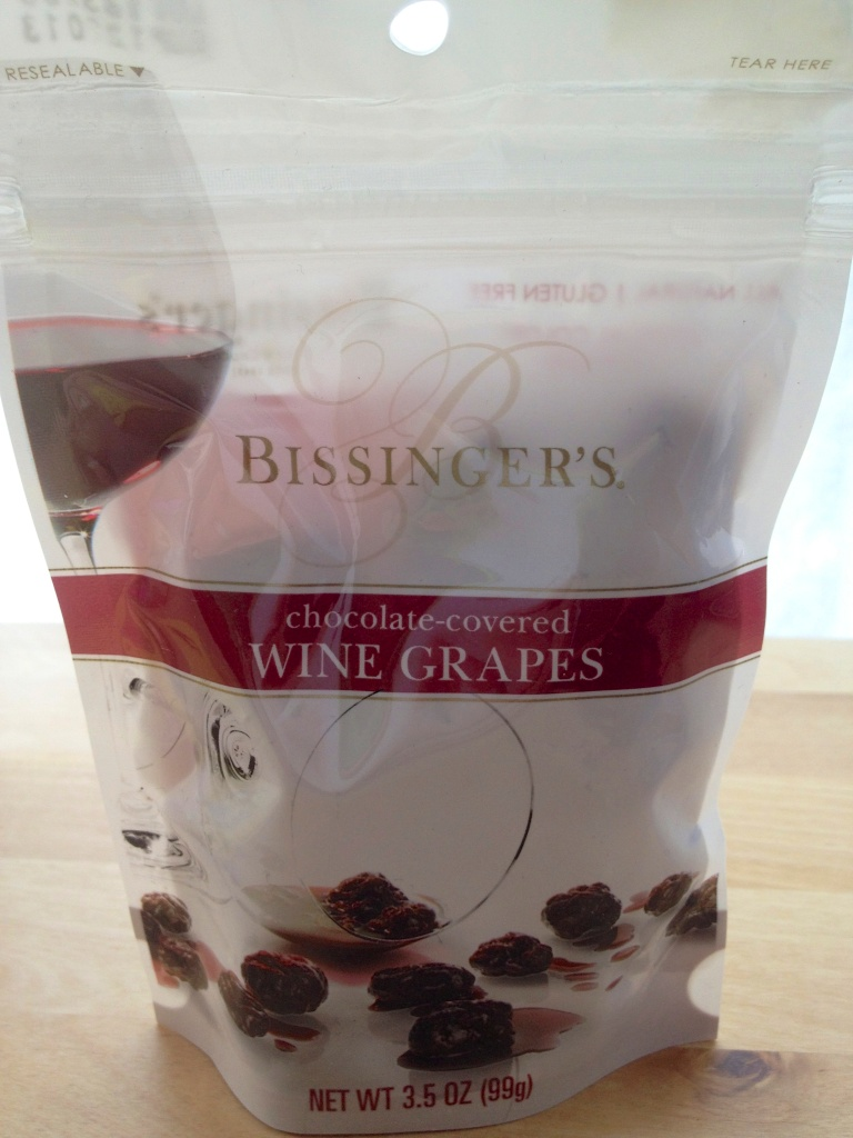 Chocolate covered wine grapes. Way to combine two of my favorite things. :)