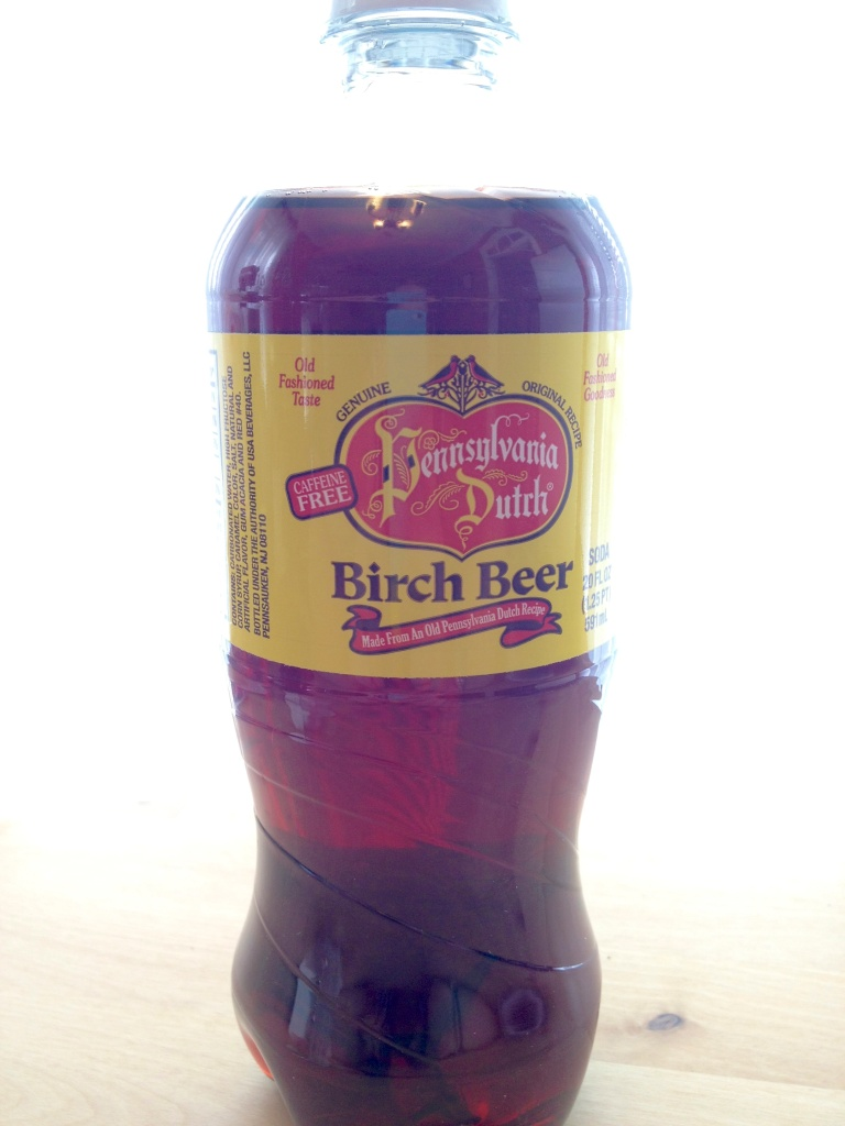 The birch beer...similar to root beer although not quite. I promised my husband I'd share half of it with him. We both really enjoyed it!