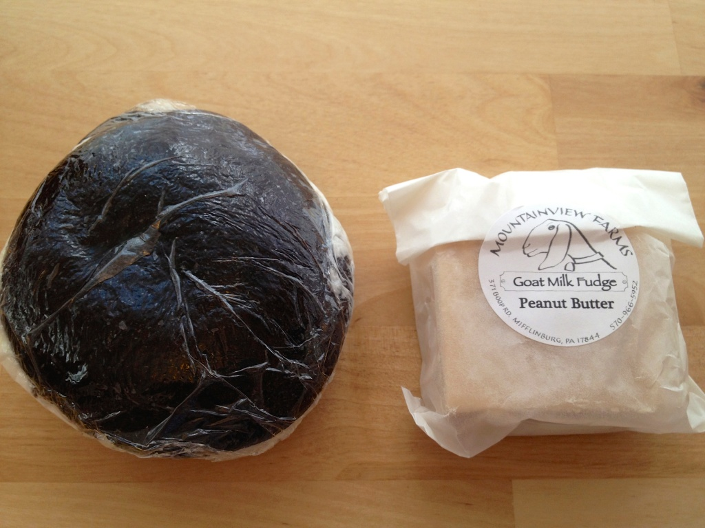 Whoopie pie and goat milk peanut butter fudge. They are both long gone. SO GOOD!