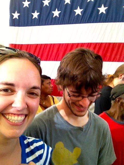 Last summer, as President Obama visited C'ville, I showed what a crowd a proud Americans looks like! :)