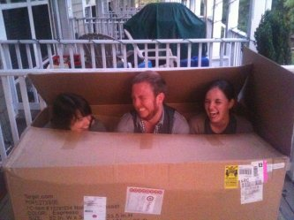 The infamous evening in the box. I have rarely laughed so hard in my life.