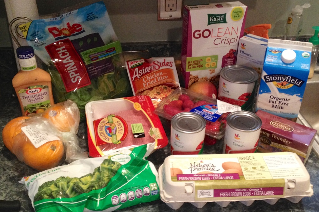 A week's worth of food on the SNAP budget