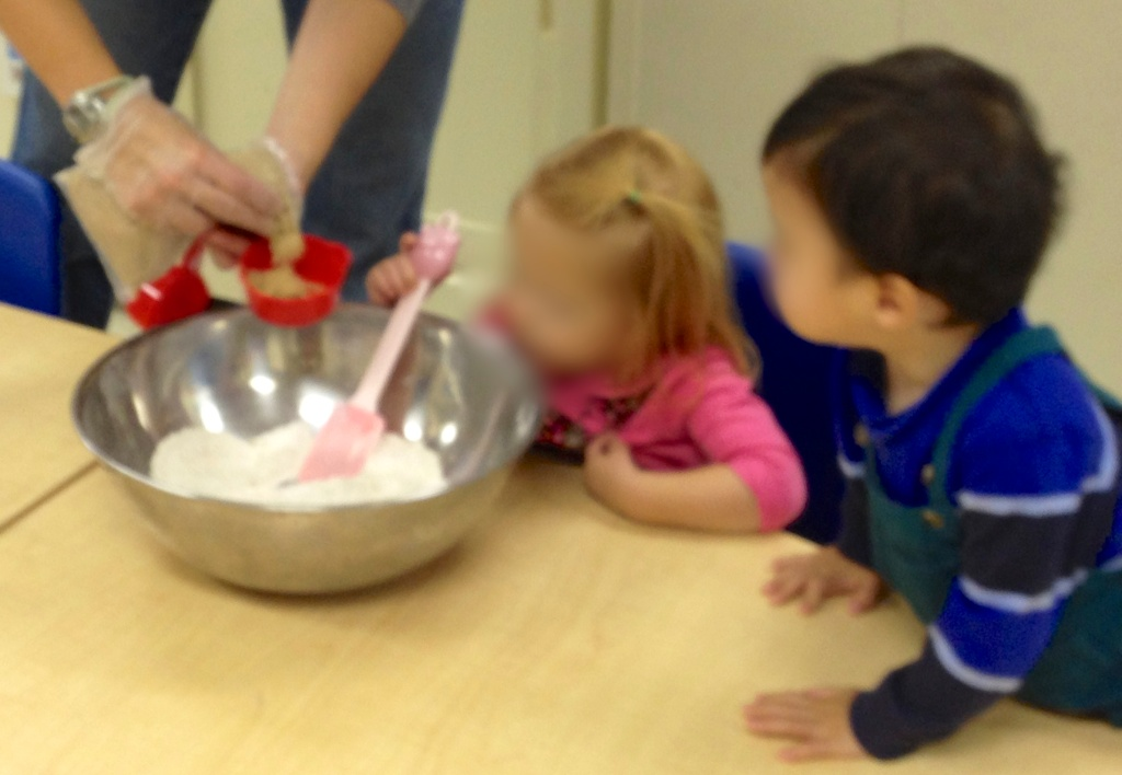 Mixing and stirring (faces blurred for obvious privacy and safety reasons)