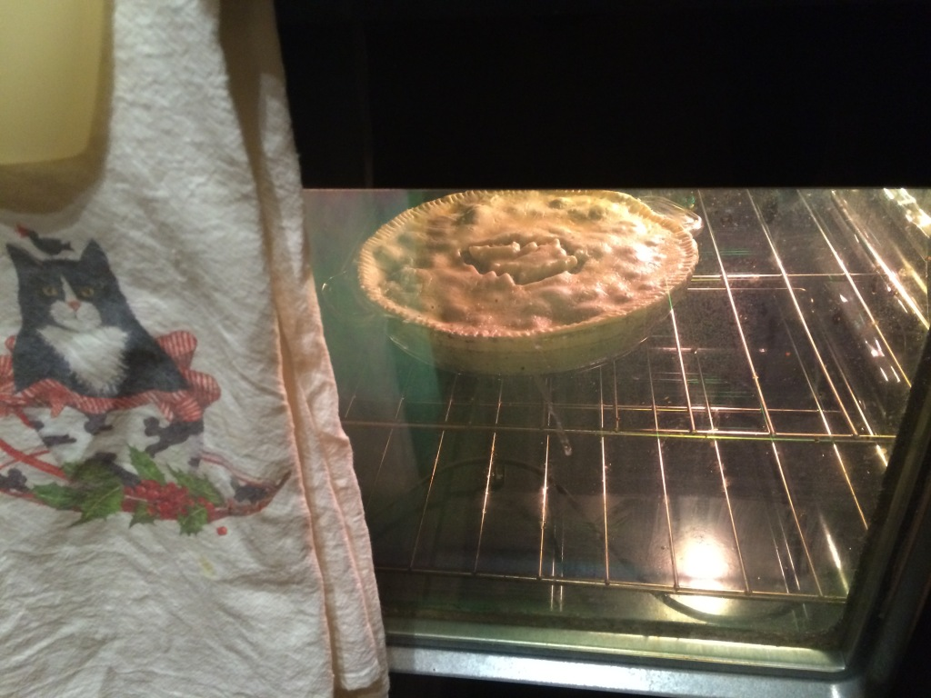 Baking a meat pie always makes me happy.