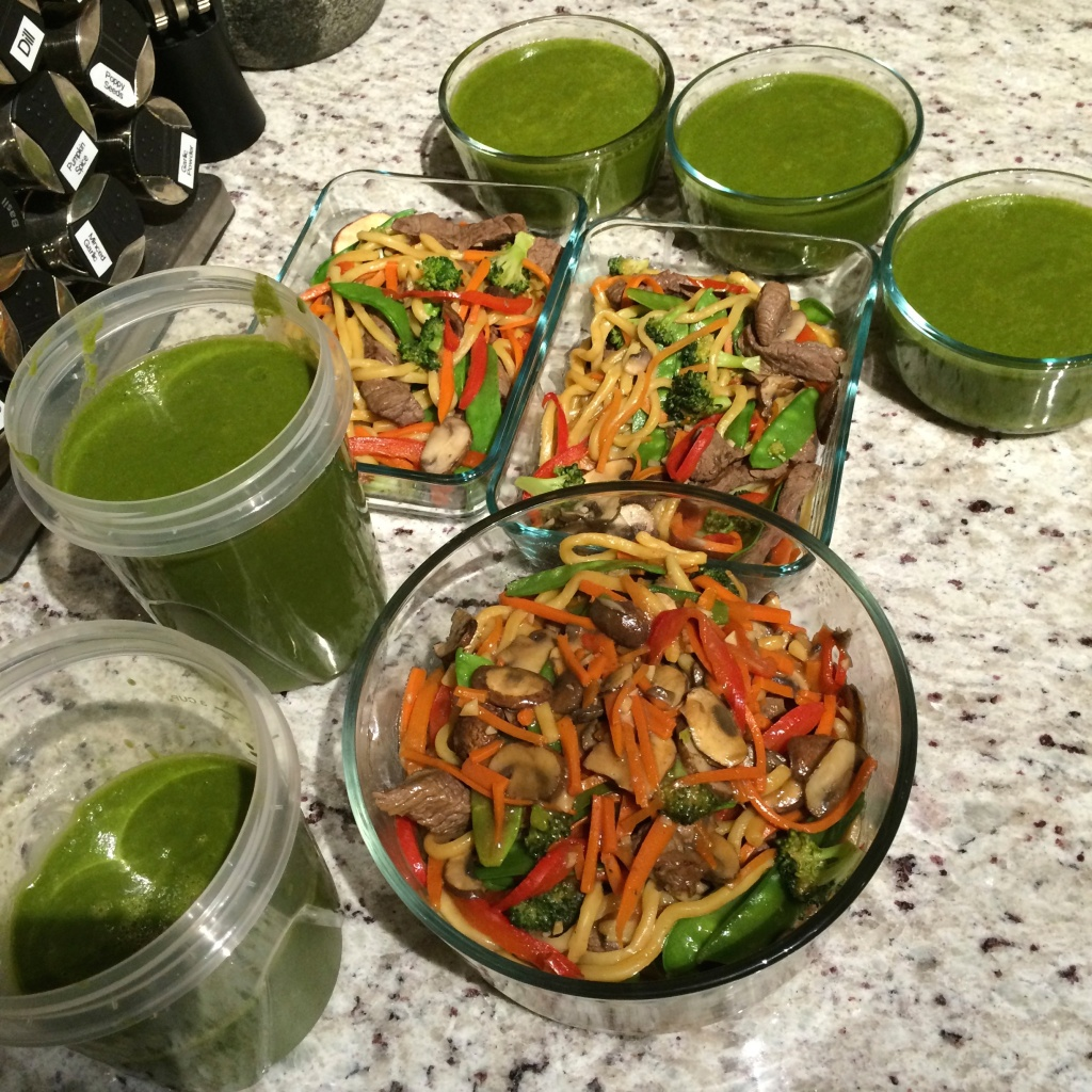 The soup and lo mein...plenty for lunches, dinners and some extra to freeze!