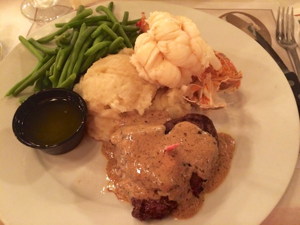 Surf-and-turf at River House Seafood